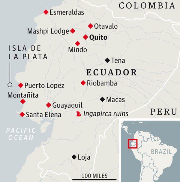 A coastal road trip in Ecuador Ecuador and Road trips