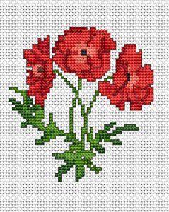 Red Rose Cross Stitch Kit  Single Rose Cross Stitch Kit  Love Cross Stitch  Valentine Cross Stitch Kit