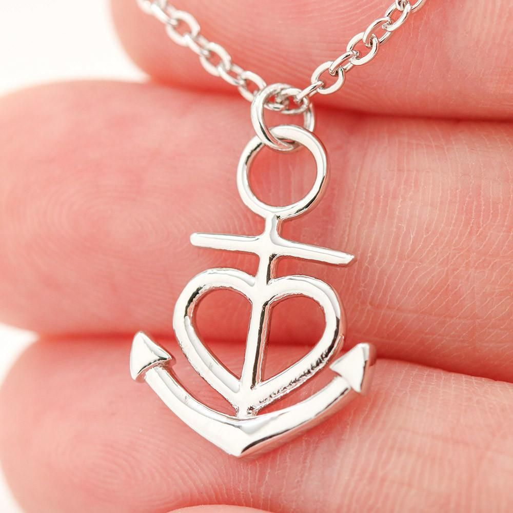 Anchor Necklace From Mom To Daughter – 18k Yellow Gold Finish Friendship Anchor
