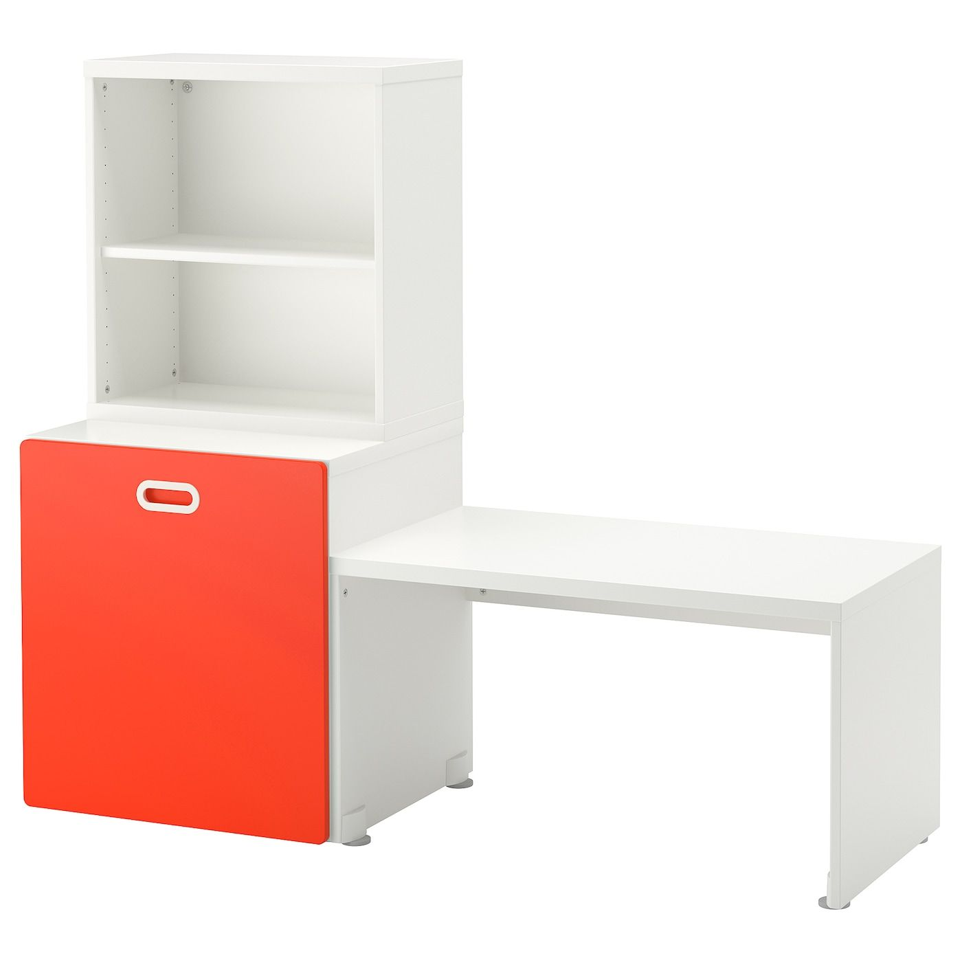 Stuva Fritids Table With Toy Storage White Red 59x19 5 8x50 3