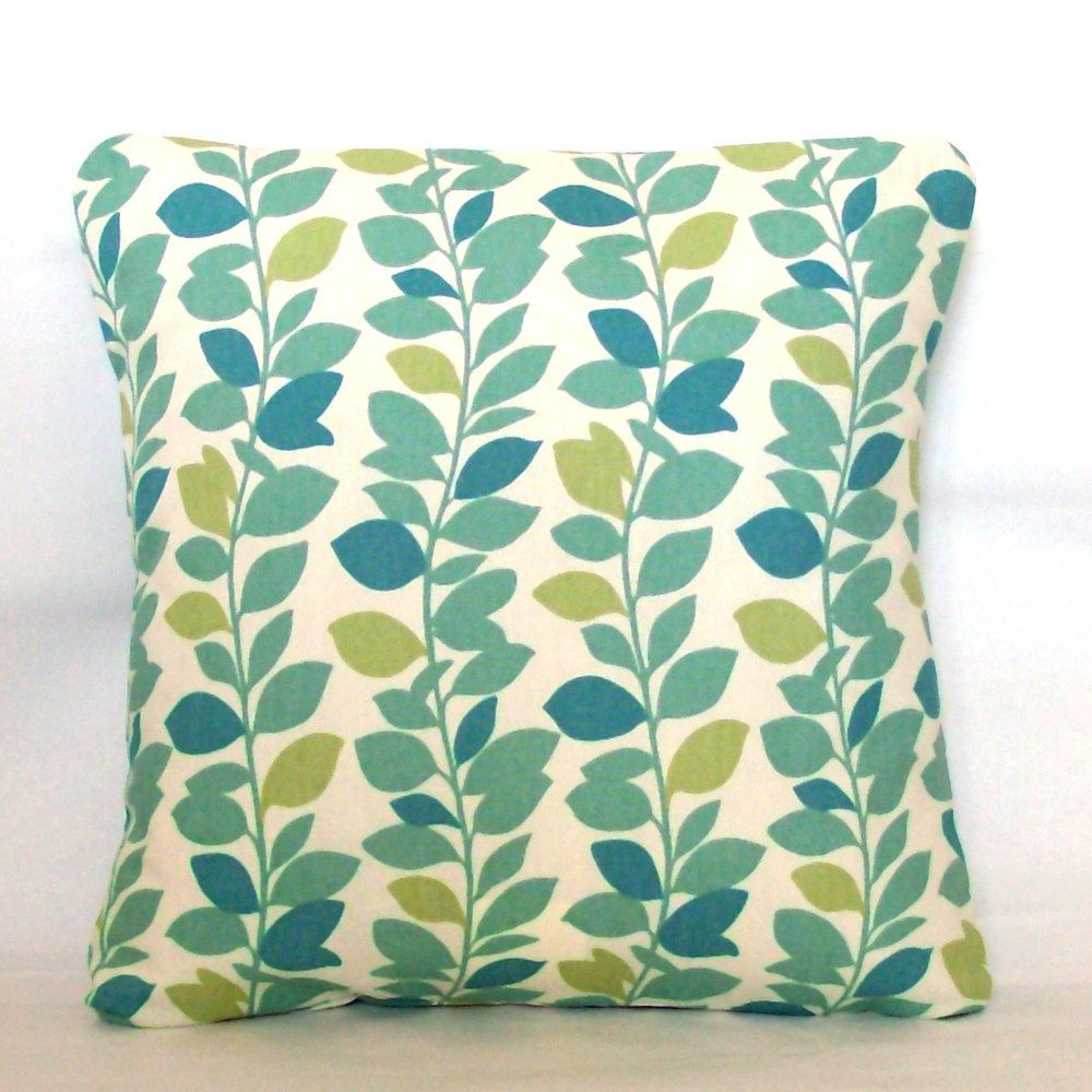 Blue green pillow cover xinch decorative throw cushion cover