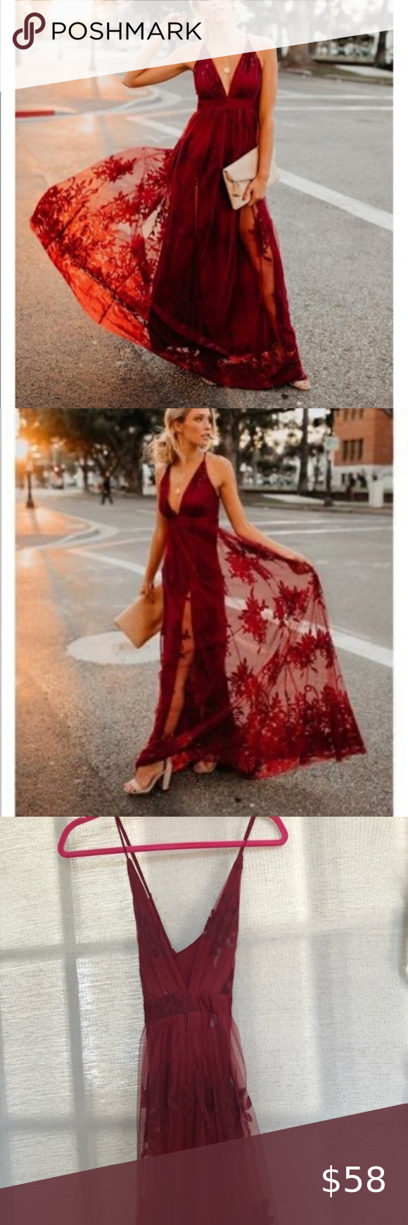 Nwt Vici Antonia Maci Dress In Wine Brand New With Tags And Never Worn Size Small The Stunning Velvet Floral Burnout Low Vici Dress Dresses Clothes Design [ 1740 x 580 Pixel ]