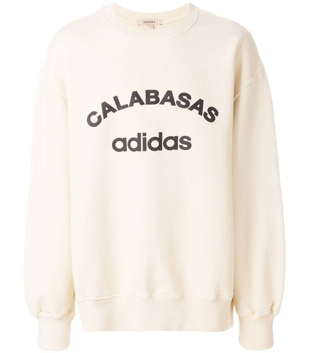 Yeezy White Calabasas Crew Neck Sweatshirt Modesens Sweatshirts Crew Neck Sweatshirt White Sweatshirt [ 1200 x 1050 Pixel ]