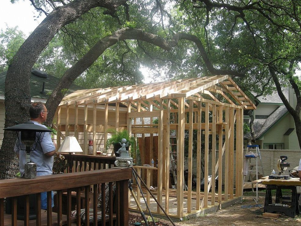 Building a backyard backyard building a shed