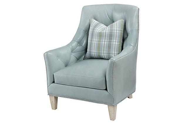 Best Echo Chair Baby Blue On Onekingslane Com Tufted Leather 640 x 480