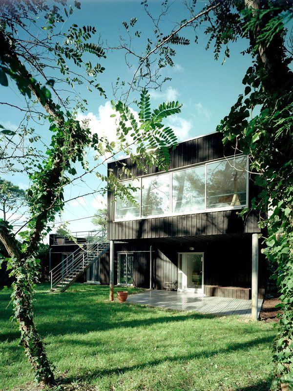 Maison bois individuelle (landes) maison sur pilotis inspiration