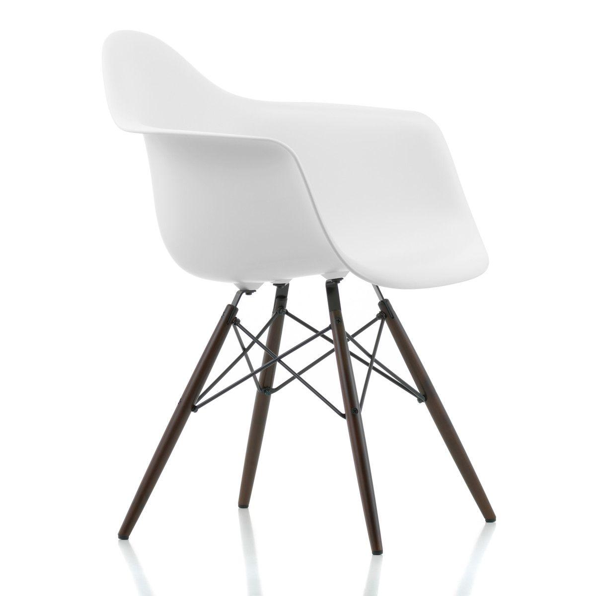 Vitra Eames Plastic Armchair DAW, Ahorn gelblich / weiß
