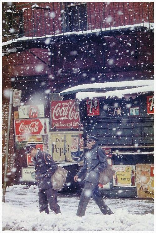 """Postmen"" by Saul Leiter, 1952."