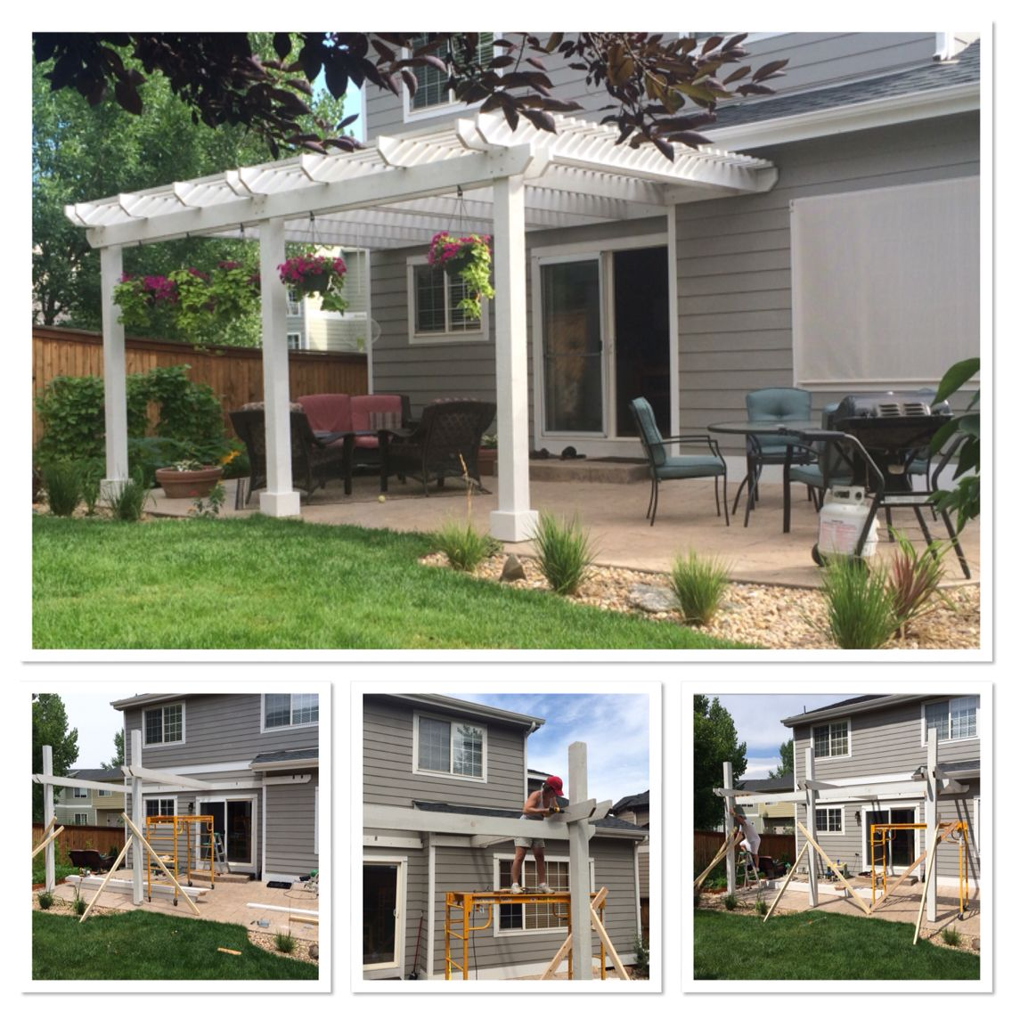 we designed and built this pergola out of rough sawn western red