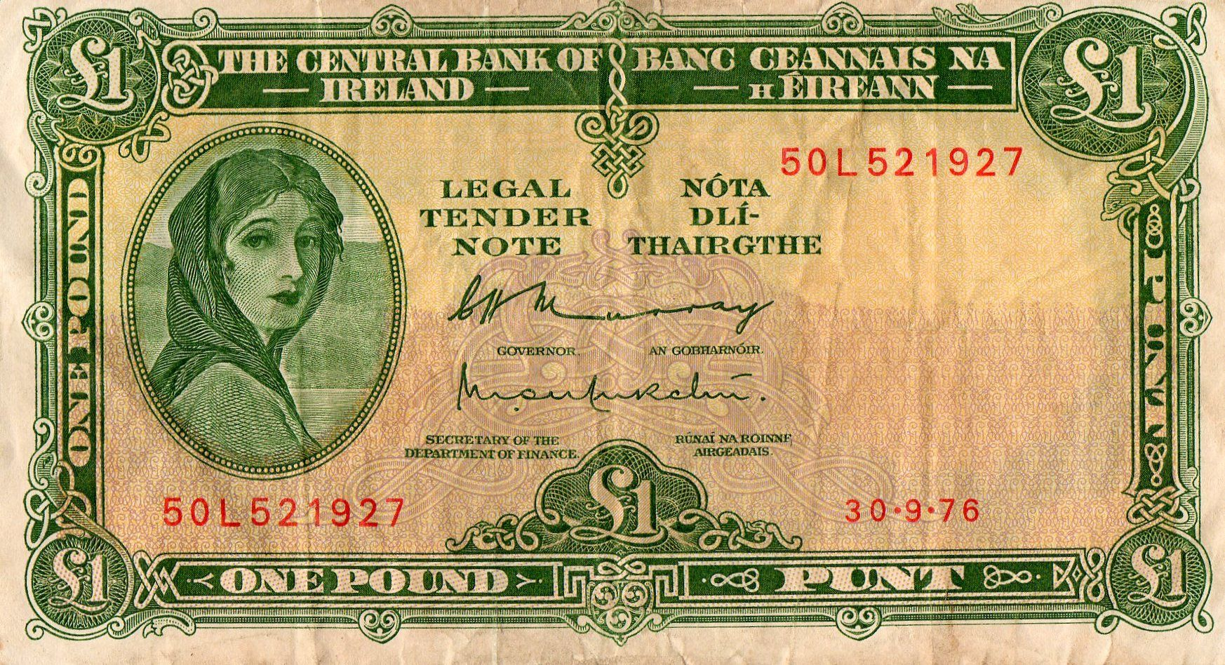 Old Irish One Pound Note