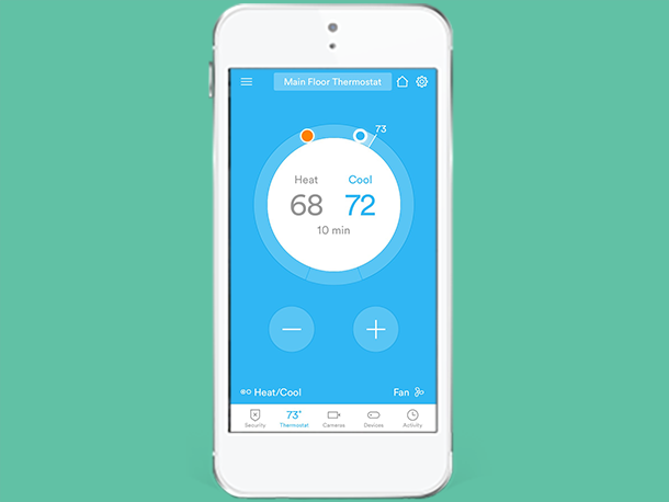 Adjust Your Thermostat Vivint Sky App (With images