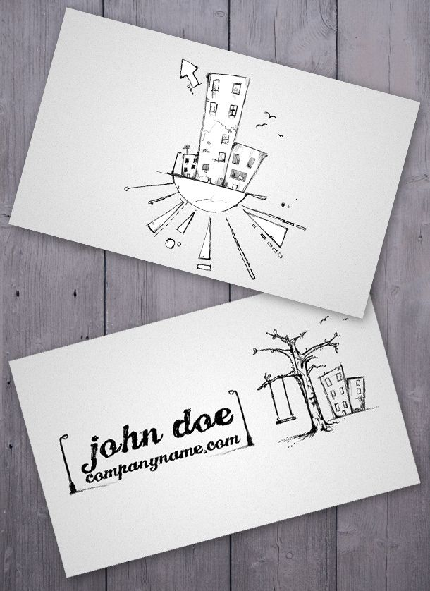 cartoon-business-card => more at designresources.io | Free Business ...
