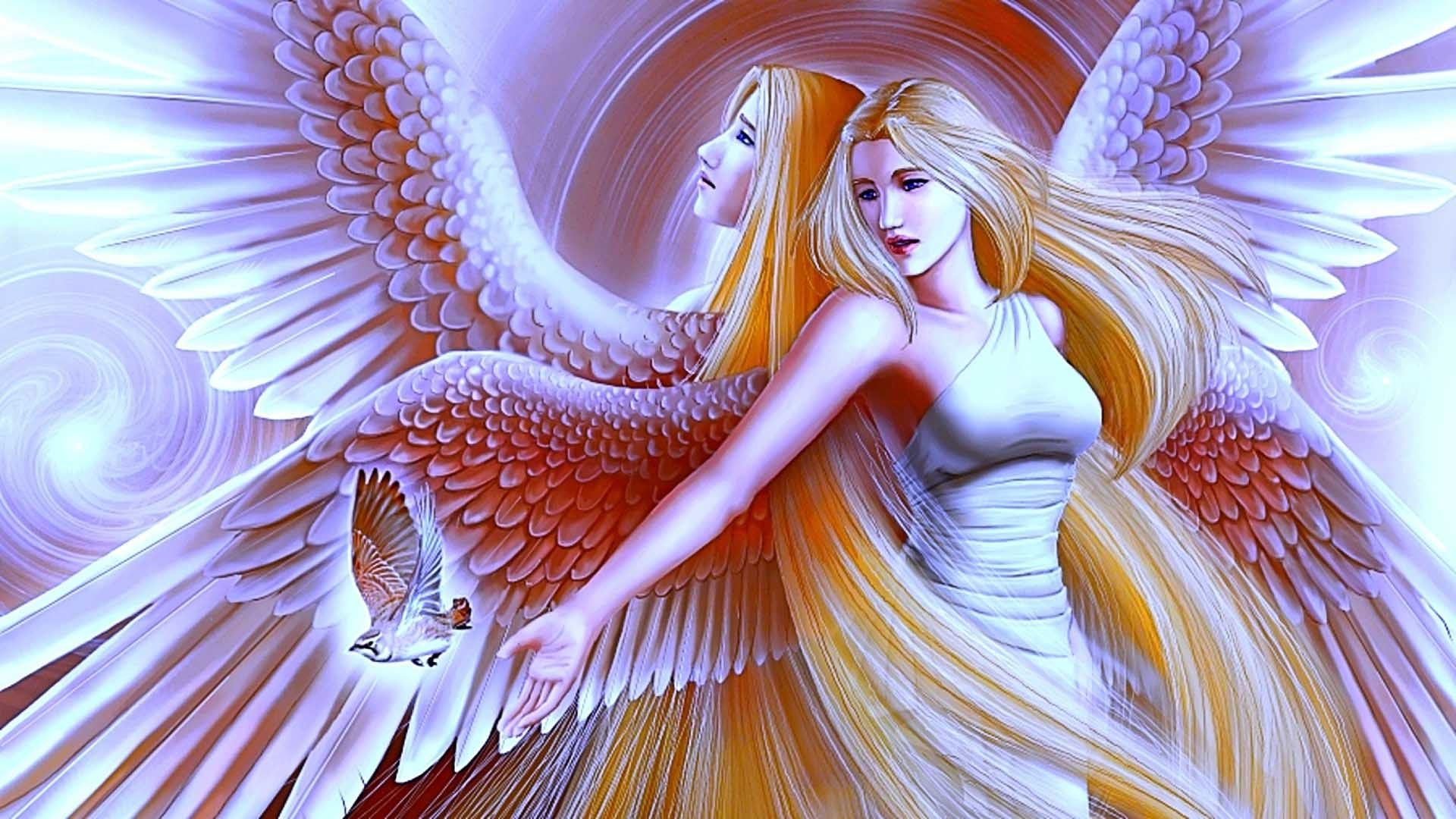 beautiful large wing angels wallpaper 1920a—1080