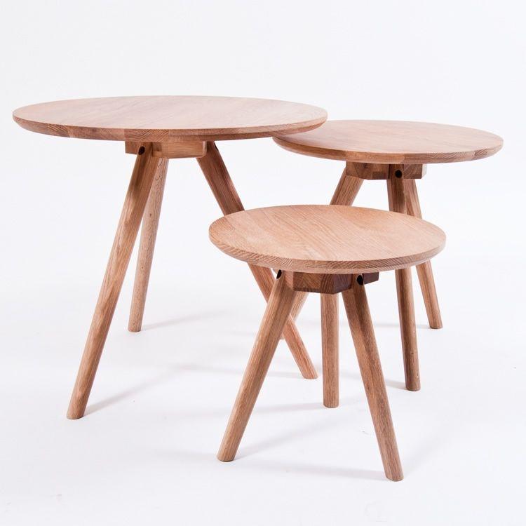 Ystad sarjapöytä, 3-pakkaus, tammi ryhmässä Huonekalut / Pöydät / Sohvapöydät @ ROOM21.fi (122993)