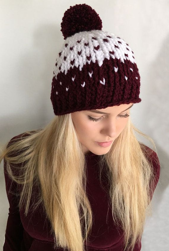 2 Colors//Patterns Available Old Navy Toddler Knit Cap with Pom Pom
