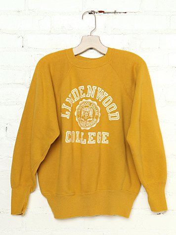 free people vintage lindenwood college sweatshirt.
