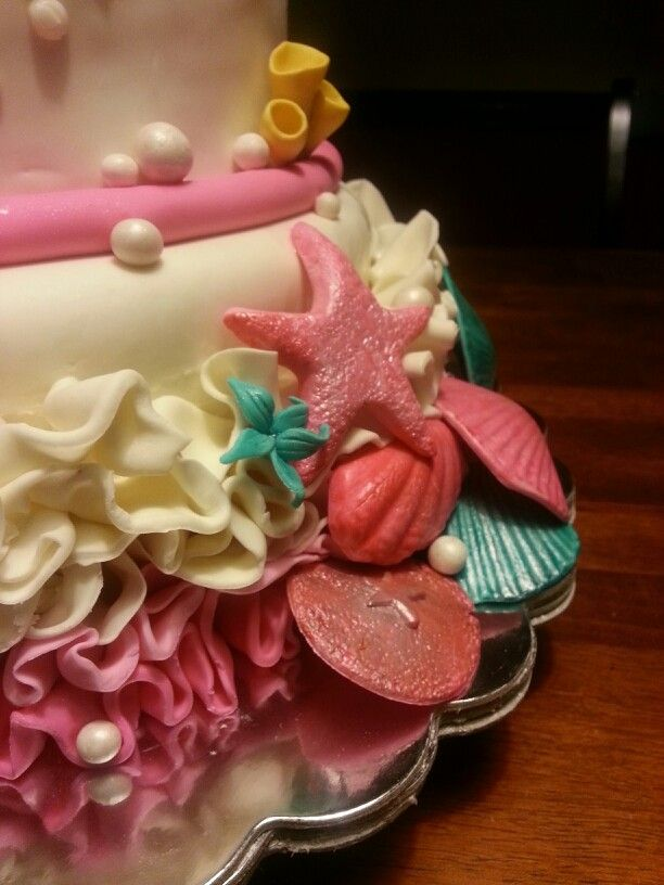 Baby Mermaid Baby Shower Cake Cakes By Us Pinterest