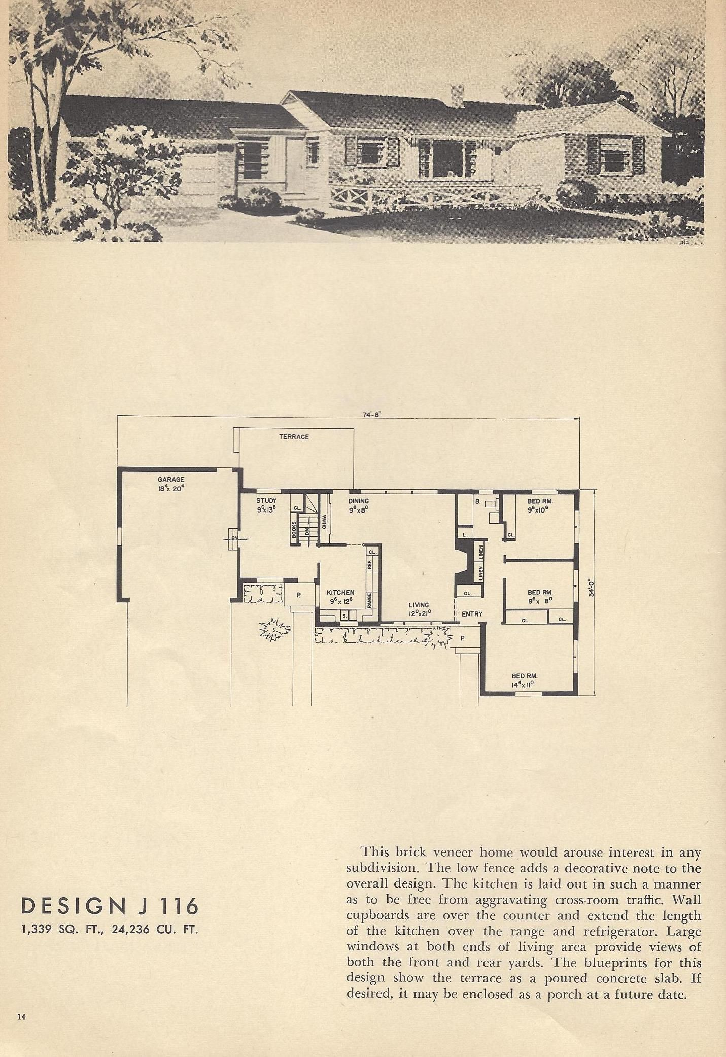 More Vintage House Plans Vintage House Plan Books Give An Insight Into The Style Of Mid Century Ho Vintage House Plans Architectural House Plans Vintage House