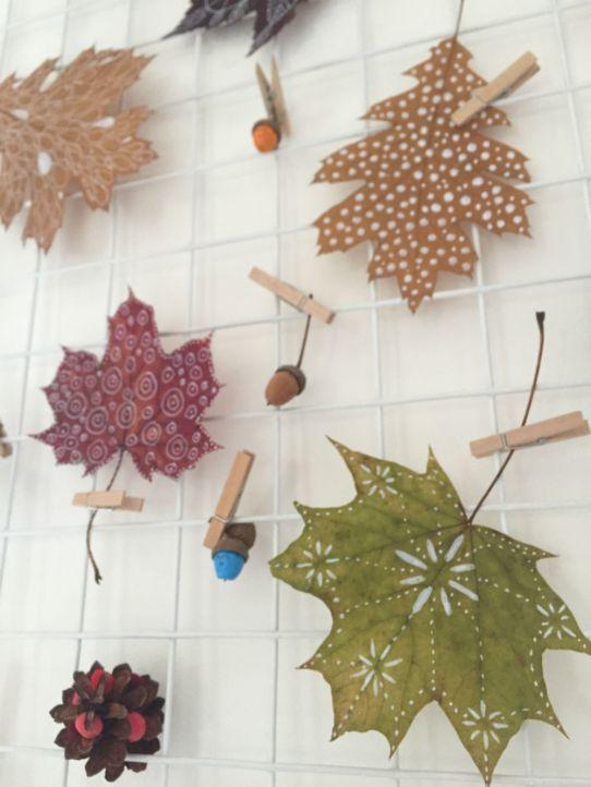 Herfst decoratie tips: herfstbladeren verven