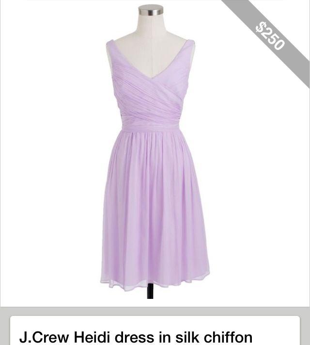 J crew lavender dress-Allison | Wedding | Pinterest