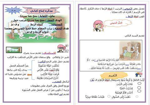 مذكرة إنتاج كتابي السنة الثانية دروس و امتحانات من التحضيري للتاسعة تونس Bullet Journal Journal Oio