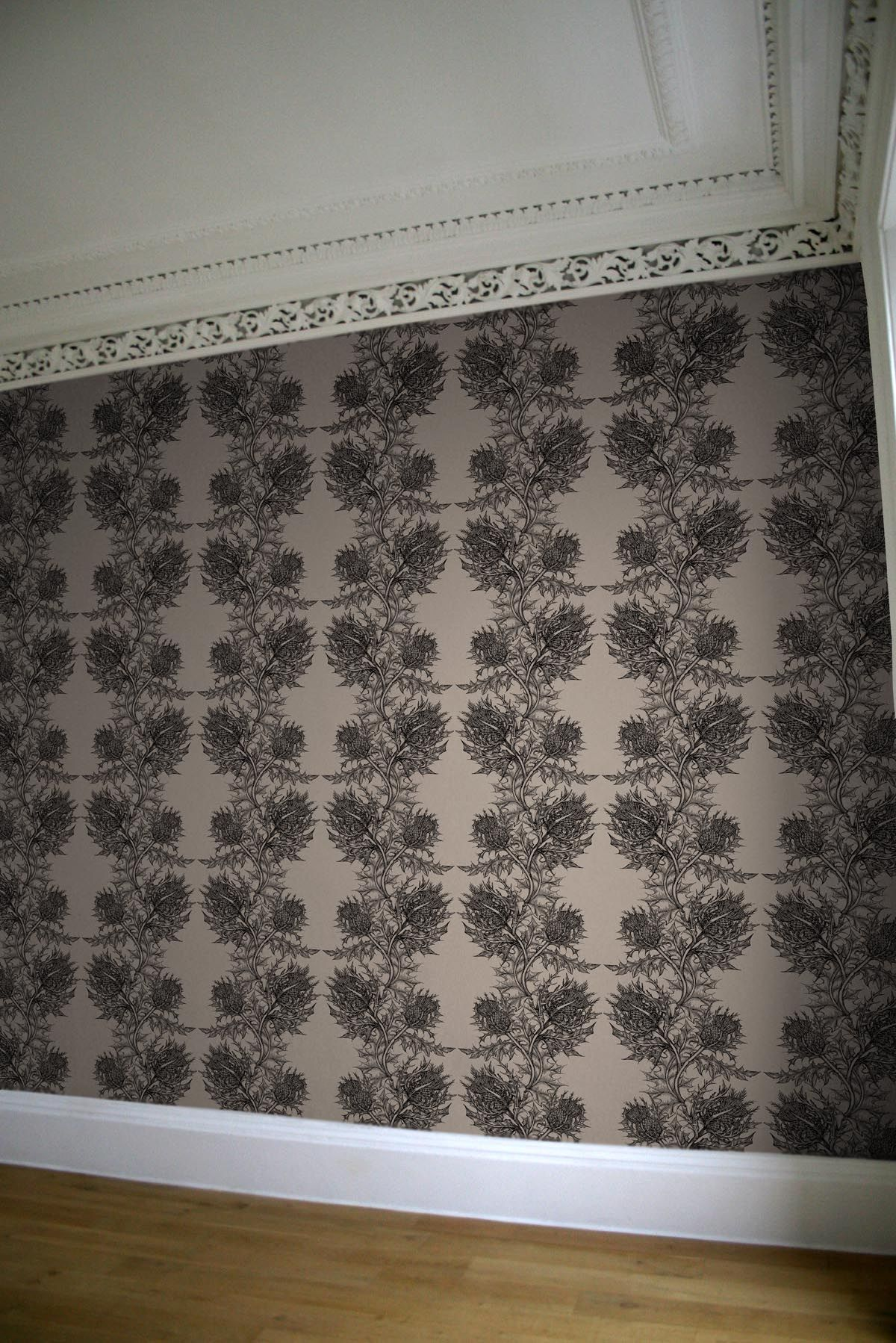 Timorous Beasties Wallcoverings - Thistle | home: DINING ROOM ...