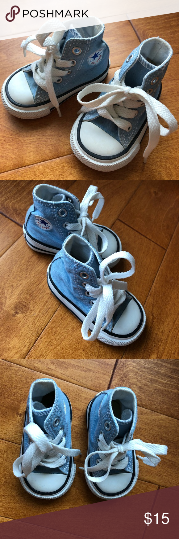 Infant Converse Baby Blue Hard Sole Shoes b927fabf9