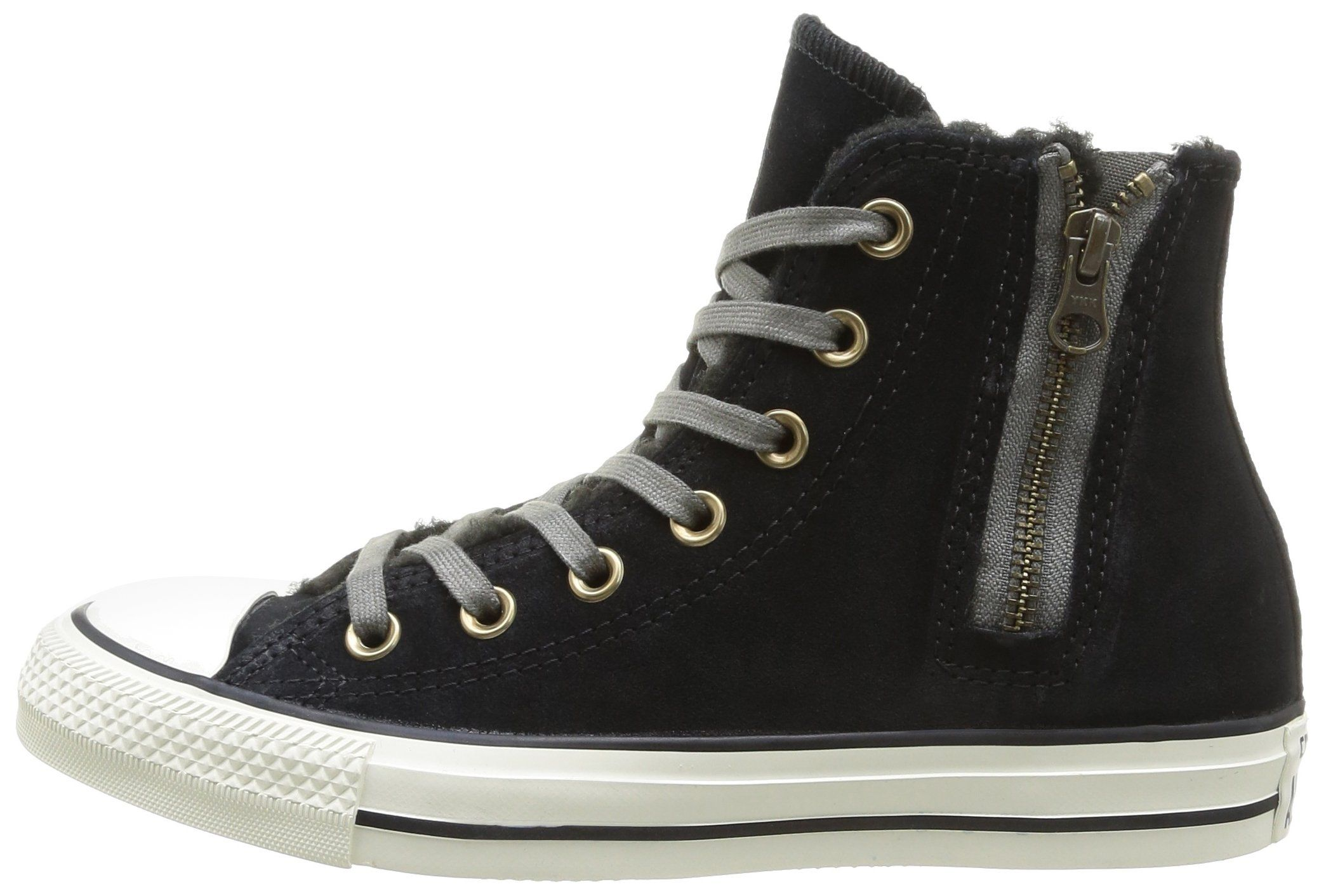 AmazonSmile: CONVERSE Women's Chuck Taylor Side Zip Suede High Top Sneaker: Clothing