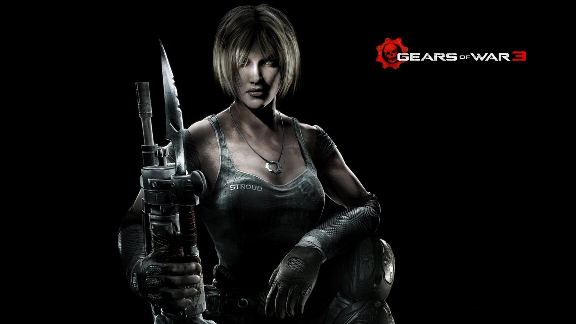 Fabulous Gears Of War 3 Girl Gun Look Blonde Anya Stroud