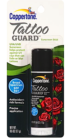 How to protect tattoos from fading review coppertone for Tattoo goo walmart