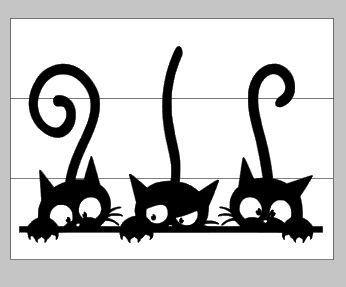 Peeking Cats Chat Chien Dessin Dessin Chat Et Mur De Chat