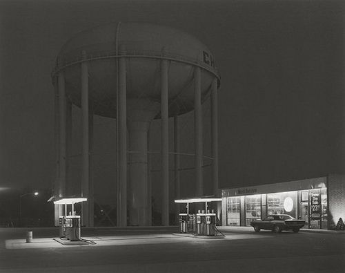 George Tice: Petit's Mobil Station, Cherry Hill, NJ (1974)byP-E Fronningon Flickr.