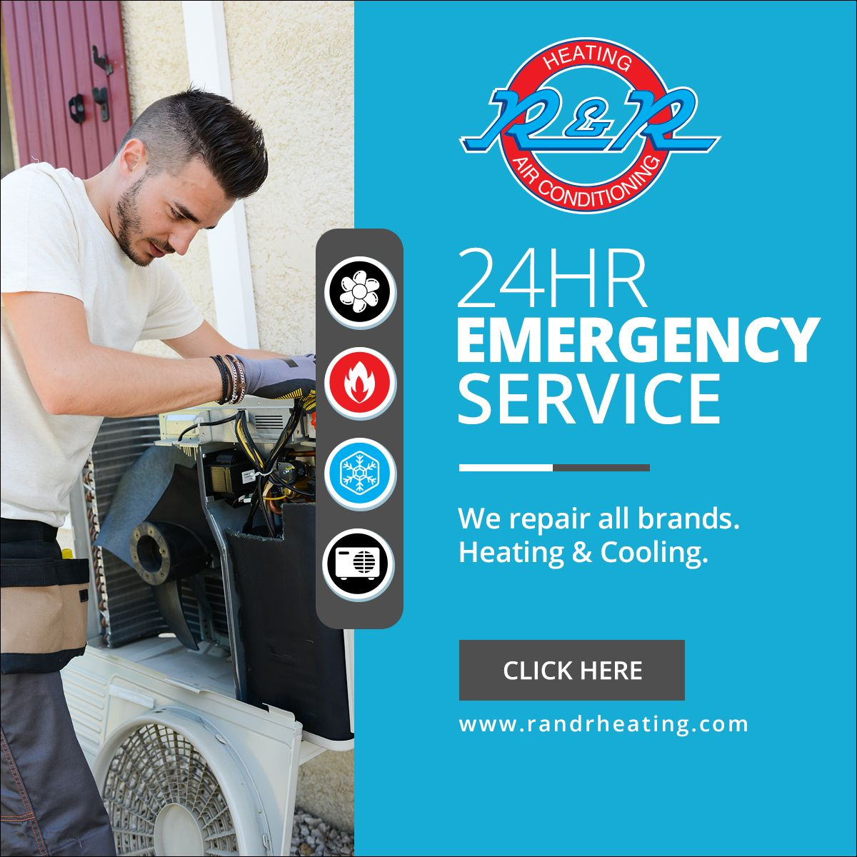 24hr Emergency Service Heating & Air Conditioning HVAC