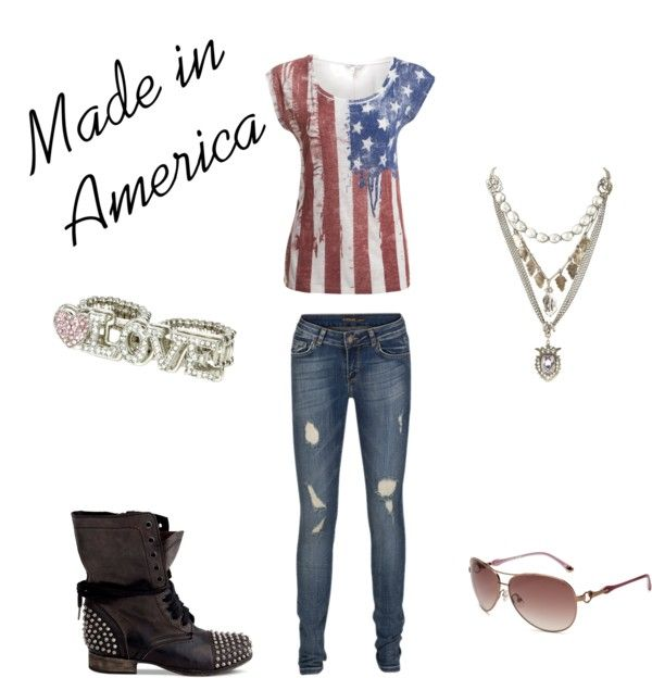 """Made in America"" by ninalyrics ❤ liked on Polyvore"