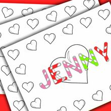 NAMES coloring pages : 8 printables to create your name poster