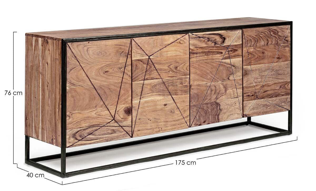MUZZA sideboard egon 4 doors 175 x 76 cm