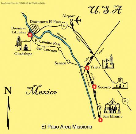 El Paso...Mission Trail Map   RV Road Trip - Texas   El paso ...