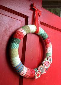Photo of fabric wreath tutorial
