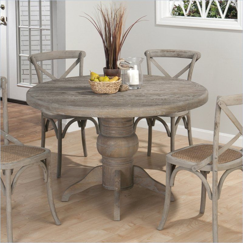 Kitchen Table Series: Jofran 856 Series Round Dining Table In Burnt Grey