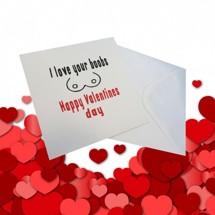 Etsy Shop I Love Your Boobs Valentines Day Card For Wife Blank Cards Girlfriend
