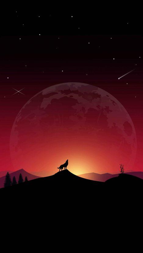 Red Moon Wolf iPhone Wallpaper Free GetintoPik