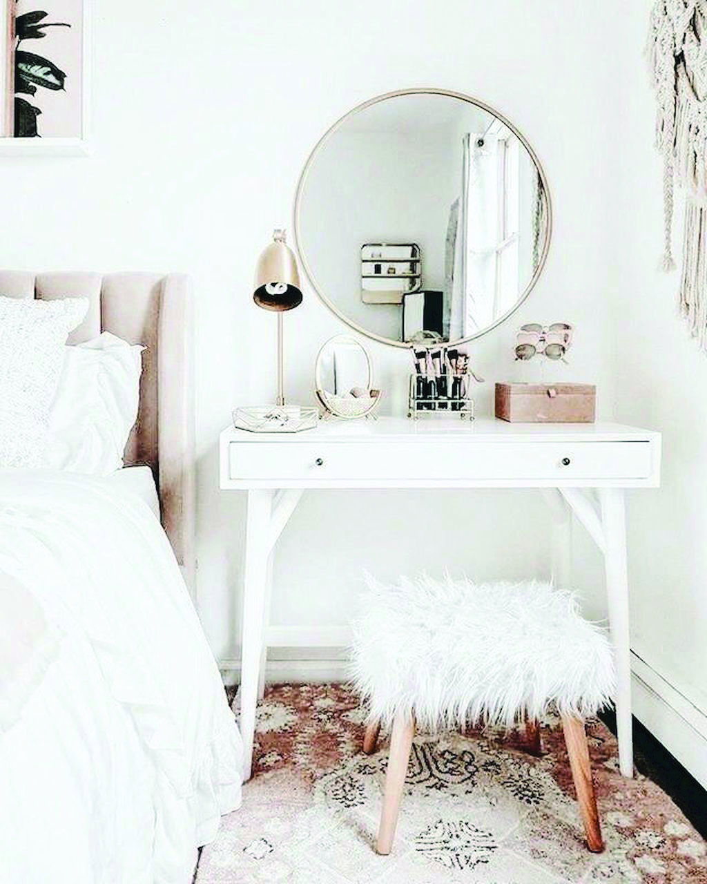 Primary White Bedroom Vanity Canada For Your Cozy Home White Bedroom Vanity Bedroom Trends Bedroom Diy