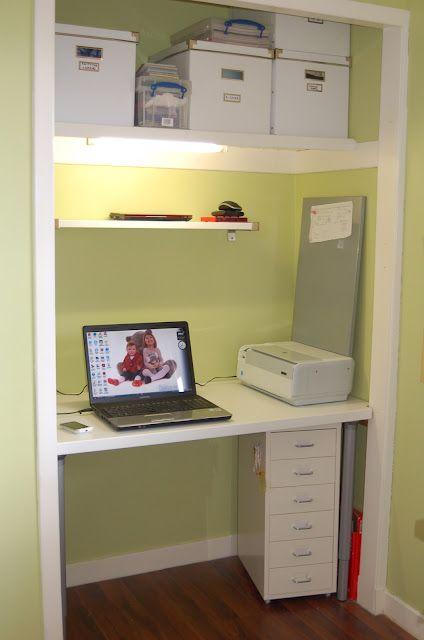Computer Desk Inside The Wardrobe Is A Much Better Use Of Space! IKEA  Pragel Kitchen Worktop