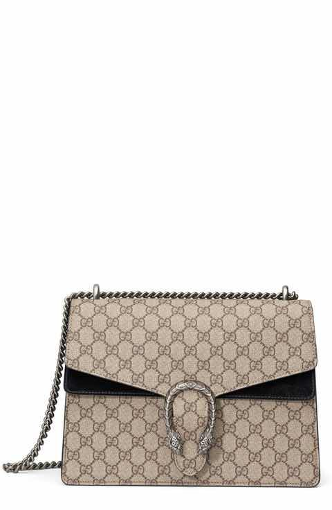 b6b783b2568 Gucci Large Dionysus GG Supreme Canvas   Suede Shoulder Bag