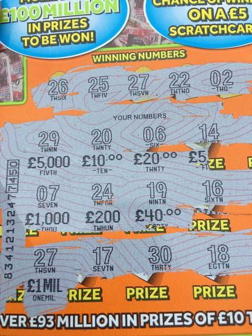 Scratch cards uk prizes for powerball