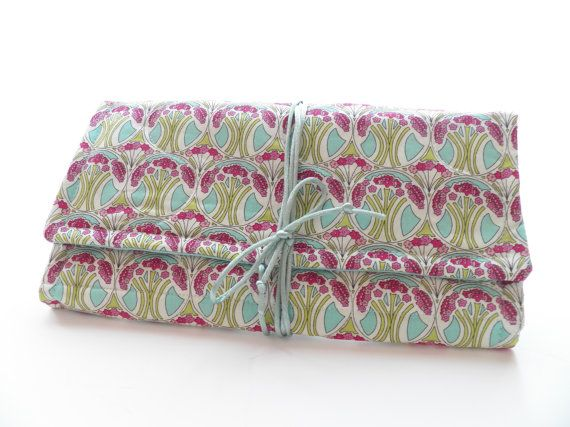 Jewelry Roll Travel Organizer Bridesmaid Gift In Liberty of London