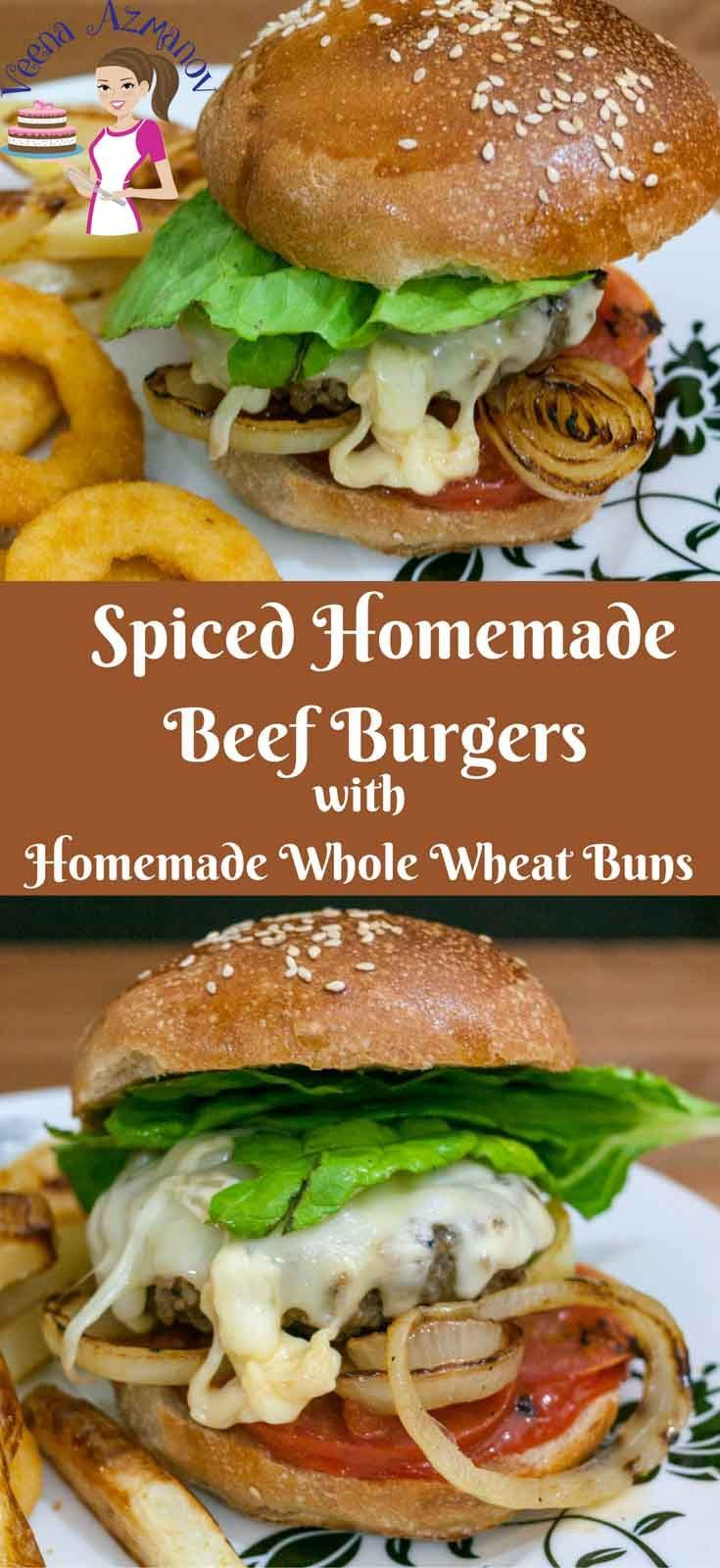 A good homemade burger should be simple, easy and less complicated. This spiced ...  - VeenaAzmanov.Com Recipes Appetizers to Desserts -