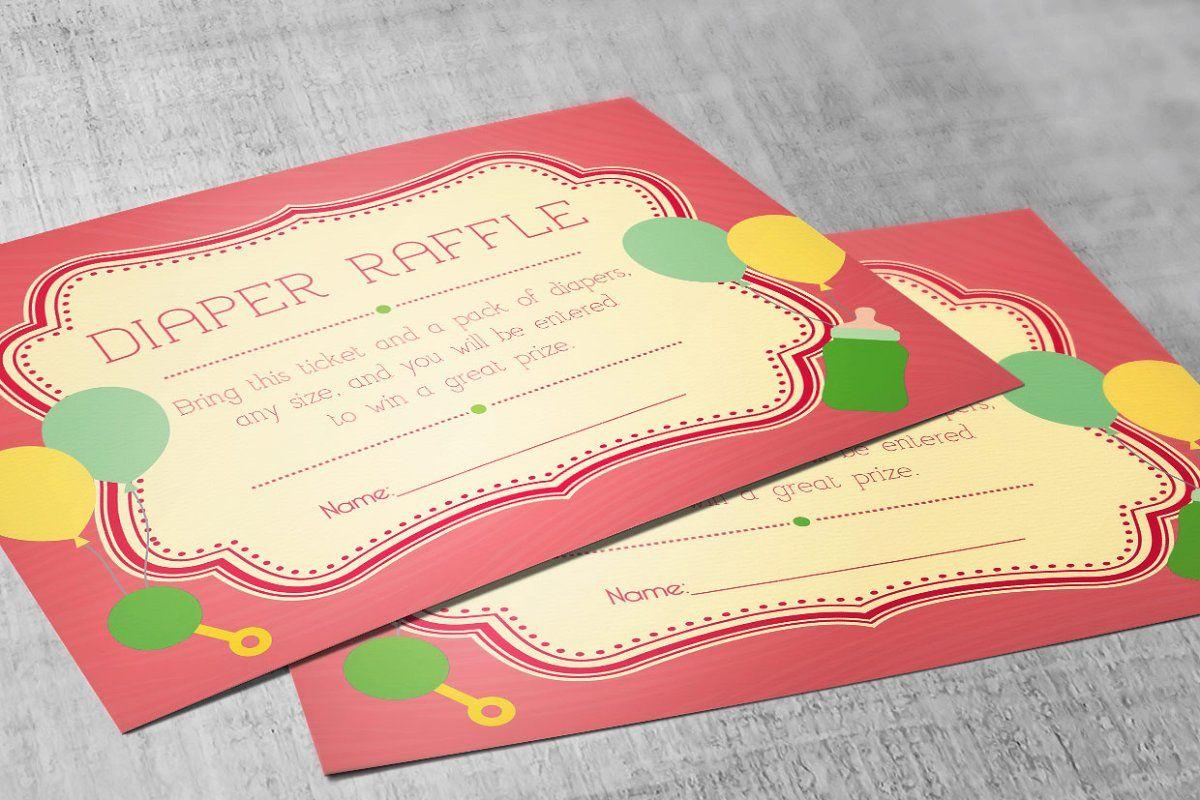 Photo of Retro Diaper Raffle Card Publisher , #AFFILIATE, #Publisher#Template#customized#…