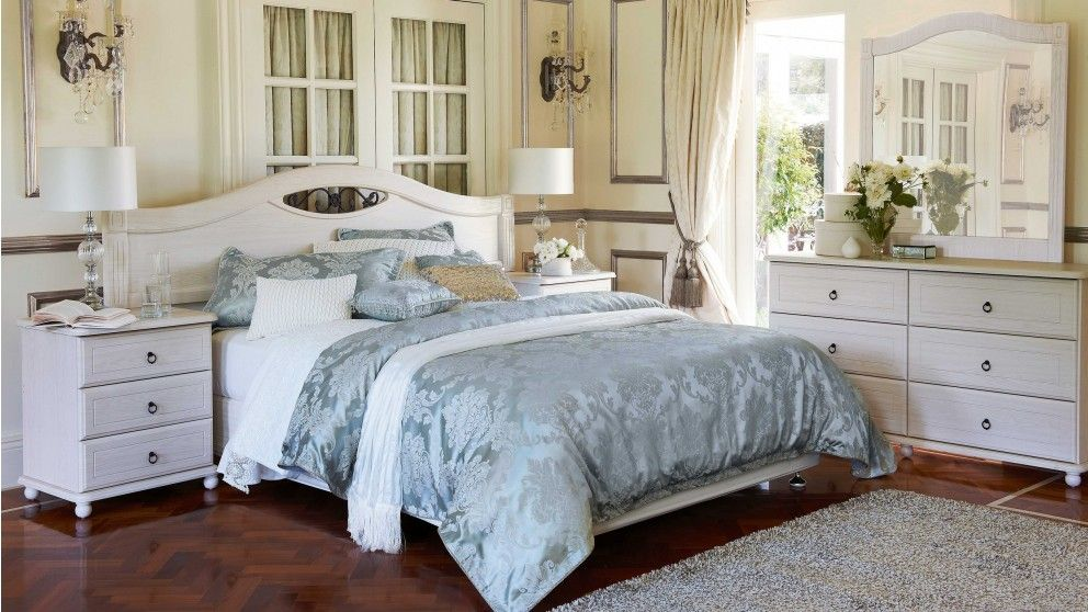 White Bedroom Furniture Nz ashcourt queen bed - bedroom furniture | harvey norman australia
