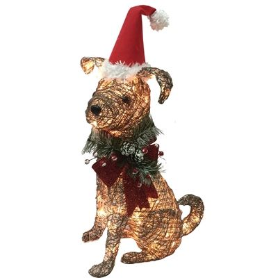 holiday living lighted pvc freestanding sculpture constant white must love dogs gemmy lighted dog outdoor christmas decoration